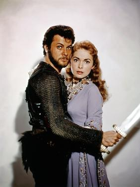 Les Vikings by Richard Fleischer with Tony Curtis and Janet Leigh en, 1958 (photo)