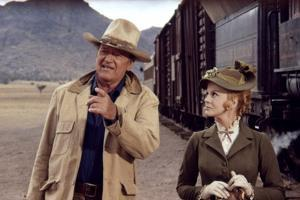Les Voleurs by Trains THE TRAIN ROBBERS by BurtKennedy with John Wayne and Ann-Margret, 1973 (photo