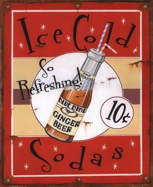 Ice Cold Sodas by Lesley Hallas