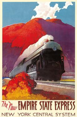 The New Empire State Express - Steamlined Locomotive Train Engine - New York Central System by Leslie Darrell Ragan