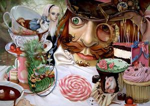 Alice in Wonderland (Tea party) by Leslie Ditto