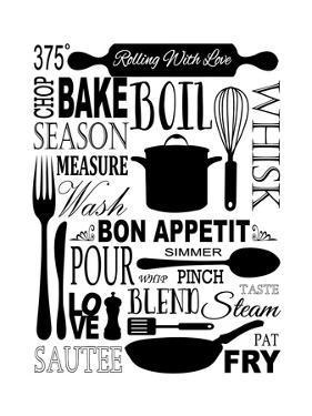 Culinary Love 1 (black & white) by Leslie Fuqua