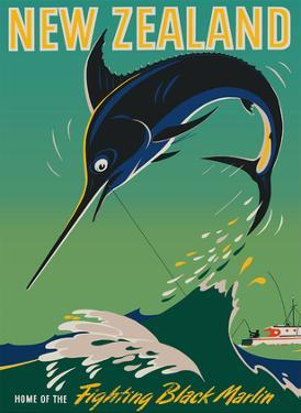 New Zealand - Home of the Fighting Black Marlin - Big Game Fishing by Leslie George McCullough