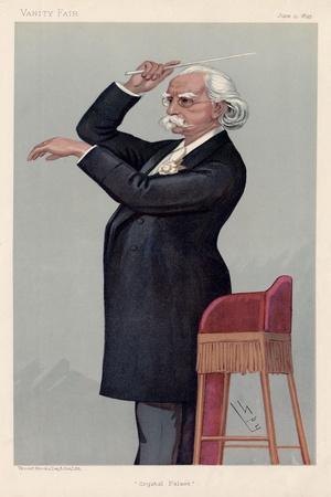 MANNS August by Spy, Vanity Fair cartoon 1895