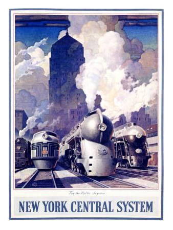 New York, Central Railroad by Leslie Ragan
