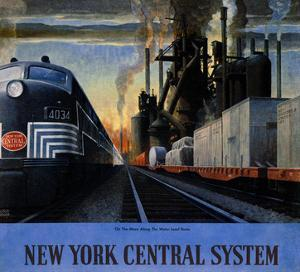 New York Central System, Along the Water Level Route by Leslie Ragan
