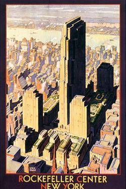 Rockefeller Center, New York by Leslie Ragan