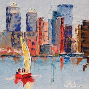 New York Harbor by Leslie Saeta