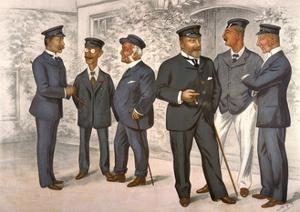 Edward VII, Cowes, Vf 1894 by Leslie Ward