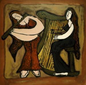 Flute and Harp Duo by Leslie Xuereb