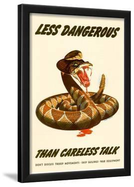 Less Dangerous Than Careless Talk Snake WWII War Propaganda Art Print Poster