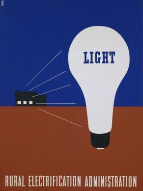 Light: Rural Electrification Administration Poster by Lester Beall