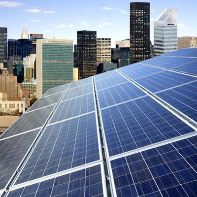 Solar Photovoltaic Panels in Urban Setting. by Lester Lefkowitz