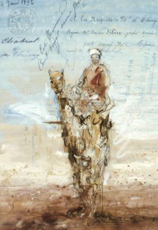 Bedouin Sur Son Dromadaire by Letestu
