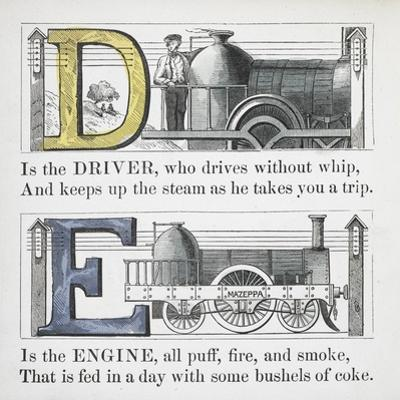 Letters D and E: Driver and Engine Illustrations