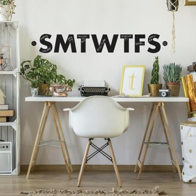 Letters Of The Week Chalk Peel and Stick Wall Decals