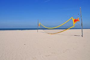 Volleyball Net on Beach by leuntje