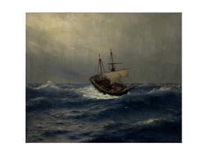 Storm on the Sea, 1887 by Lev Felixovich Lagorio