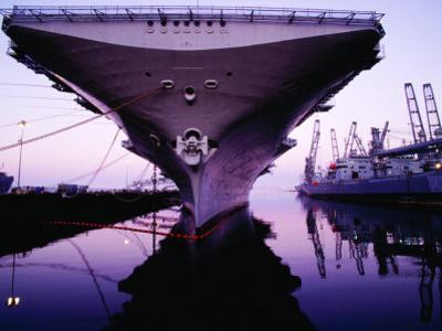 Bow of Uss Hornet at Dock, Alameda, U.S.A.