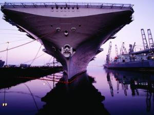 Bow of Uss Hornet at Dock, Alameda, U.S.A. by Levesque Kevin