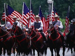 Equestrian Riders in 4th of July Parade on Constitution Avenue, Washington DC, USA by Levesque Kevin