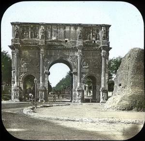 Rome (Italy), the Palatine, the Arch of Constantine, Circa 1895 by Levy et Fils Leon