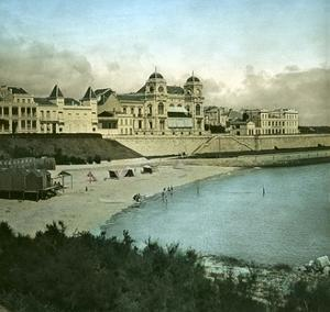 Royan (Charente-Maritime, France), the Casino Seen from the Beach, Circa 1890-1895 by Levy et Fils Leon