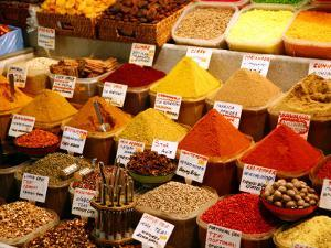 Spice Shop at the Spice Bazaar, Istanbul, Turkey, Europe by Levy Yadid