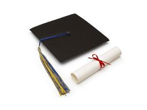 Mortarboard and Diploma by Lew Robertson