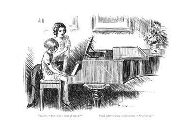 Piano Teacher and Pupil, 1920