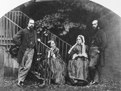 Painter Dante Gabriel Rossetti with His Family by Lewis Carroll