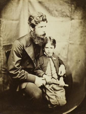 Rev. James Langton Clark and Son Charles (Robin), 1864 by Lewis Carroll