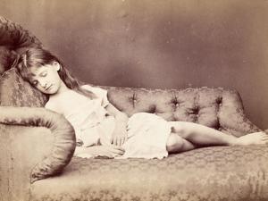 Xie Sleeping, 1874 by Lewis Carroll