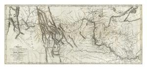 Map of Lewis and Clark's Track, Across the Western Portion of North America, c.1814 by Lewis & Clark
