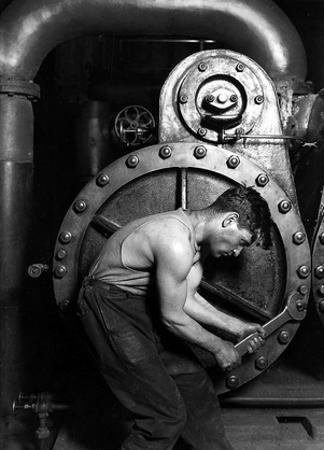 Lewis Hine Powerhouse Mechanic 1920 Archival PhotoPoster