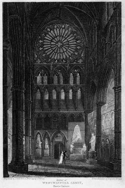 Poets' Corner, Westminster Abbey, London, 1815 by Lewis
