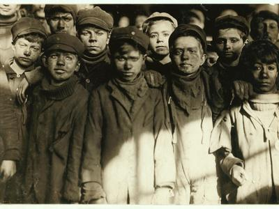 Breaker Boys (Who Sort Coal by Hand) at Hughestown Borough Coal Co. Pittston, Pennsylvania, 1911