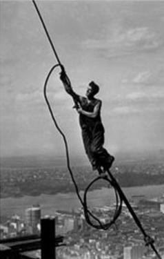 Icarus Atop Empire State Building by Lewis Wickes Hine