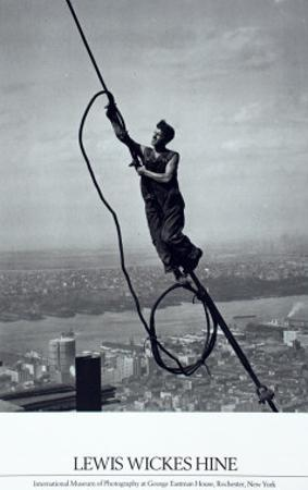 Icarus Atop Empire State by Lewis Wickes Hine