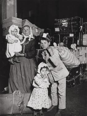 Italian Immigrants Arriving at Ellis Island, New York, 1905 by Lewis Wickes Hine