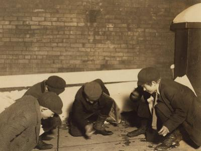 Playing Craps in the Jail Alley, Albany, New York, c.1910 by Lewis Wickes Hine