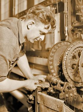 Portrait of a Powerhouse Mechanic, C.1924 by Lewis Wickes Hine