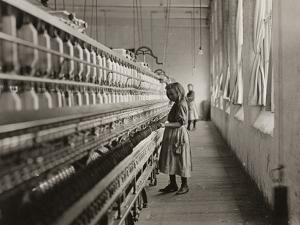 Sadie Pfeifer, a Cotton Mill Spinner, Lancaster, South Carolina, 1908 by Lewis Wickes Hine