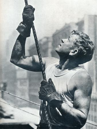 'The Empire State Building: Skyscraper Workers', c1931