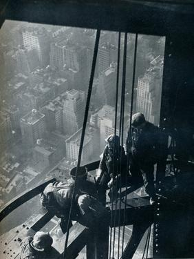 'The final stages of the Mast; the street is some quarter mile below', c1931 by Lewis Wickes Hine