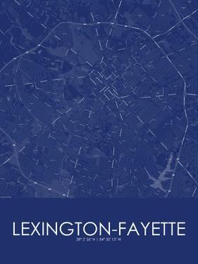 Lexington-Fayette, United States of America Blue Map