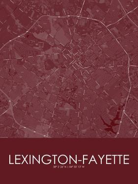 Lexington-Fayette, United States of America Red Map