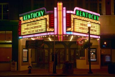Lexington Kentucky neon marquee sign for movie theater saying Kentucky