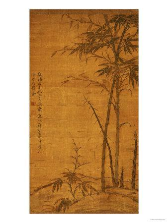 Green Bamboo in the Sheong Gu (Fine Outline) Style, 1319