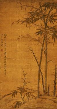 Green Bamboo in the Sheong Gu (Fine Outline) Style, 1319 by Li Kan
